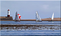 NU0052 : Sailing on the Tweed Estuary by Walter Baxter