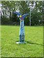 NT3467 : National Cycle Network milepost at Dalkeith by Oliver Dixon