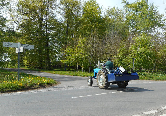 Tractor at Cross Roads Clump