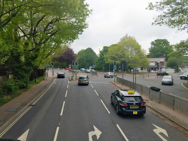 Junction of Worth Park Avenue and Worth Road, Crawley by Robin Webster