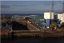 NJ9505 : Dry dock at Aberdeen tidal harbour by Robert Eva