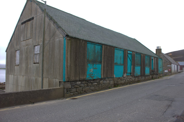 Harbour shed on Main St, Scalloway