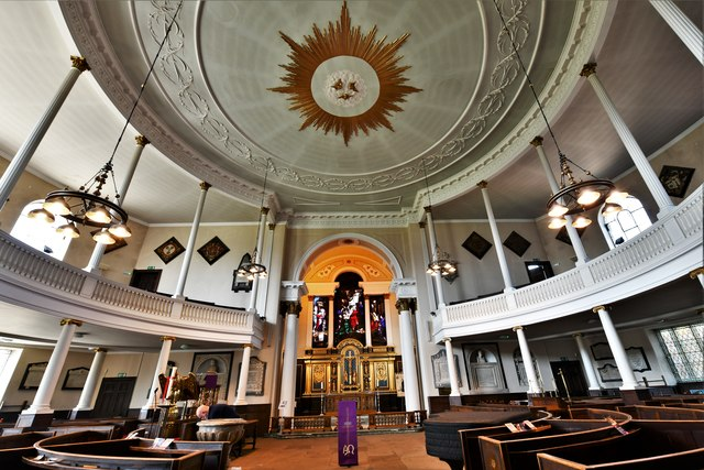 Shrewsbury, St. Chad's Church: The circular nave 1