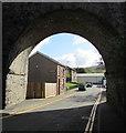 SO1106 : School Street through a railway arch,  Pontlottyn by Jaggery