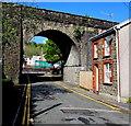 SO1106 : School Street house and railway arch, Pontlottyn by Jaggery