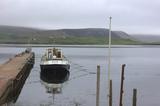 Boat in Scalloway harbour
