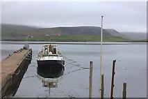 HU4039 : Boat in Scalloway harbour by Robert Eva
