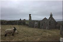 HU3630 : Derelict croft at Duncanslett by Robert Eva