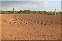 SP4276 : Ploughed field in Bretford by David Howard
