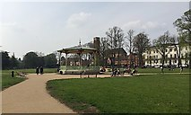 SP3165 : Restored bandstand, Pump Room Gardens, Leamington by Robin Stott