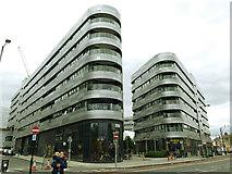 TQ3978 : Apartment blocks around Greenwich Square by Stephen Craven