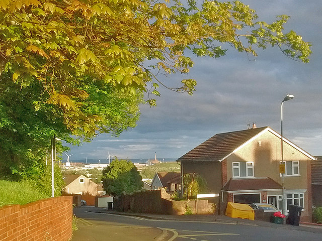 Evening view over Newport (1)