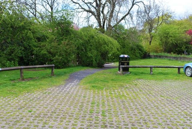 Path from car park, Letham Glen