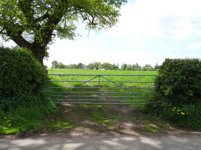 Field entrance off Coach Road, Ashtons-cross