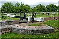 SO9163 : Hanbury Middle Lock (detail) in Worcestershire by Roger  Kidd