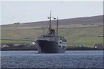 HU4841 : MS Nordstjernen in Lerwick harbour by Mike Pennington
