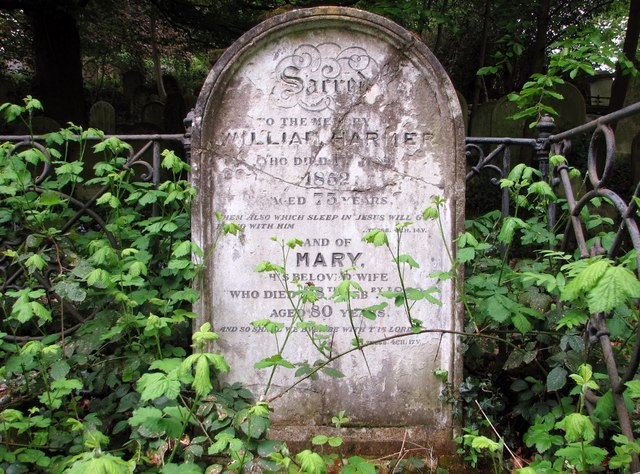 The grave of William Harmer