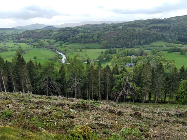 Looking down on the river Dee and the Crogen estate