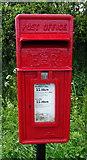 SJ5050 : Close up, Elizabeth II postbox, Ashtons-cross by JThomas