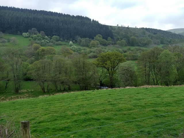 Looking across the Afon Ceidiog