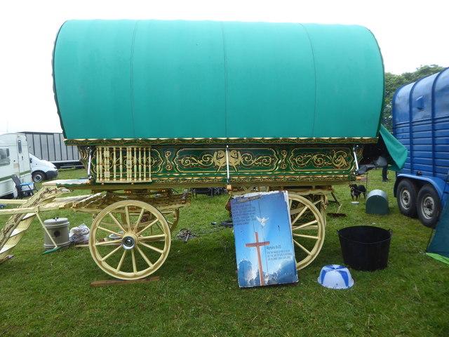 Gypsy caravan at Stow Horse Fair May 2019