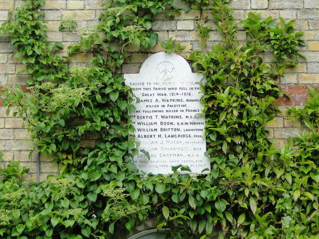 Tottenhill WW1 Memorial