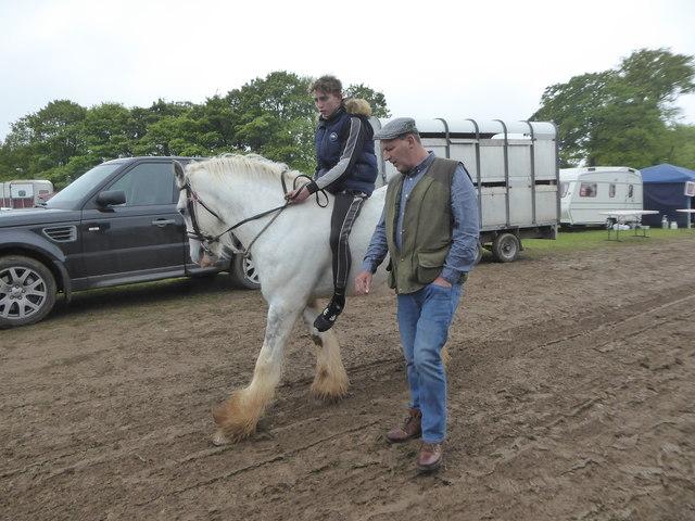 Bareback rider, Stow Horse Fair May 2019