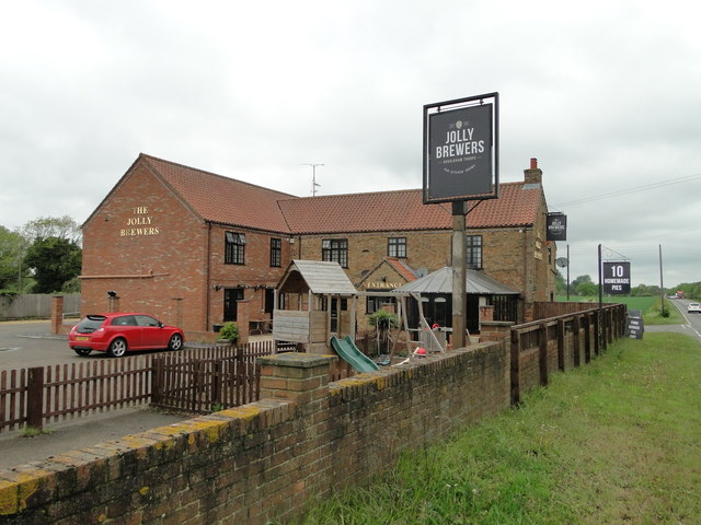 The Jolly Brewers on the A134, Lynn Road