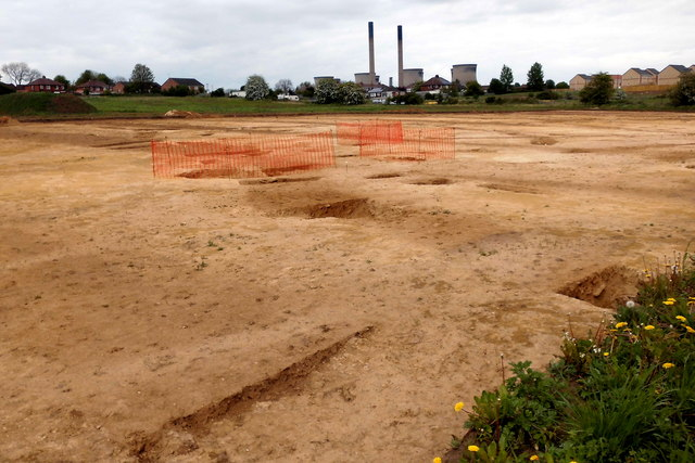 Archaeological dig prior to building work