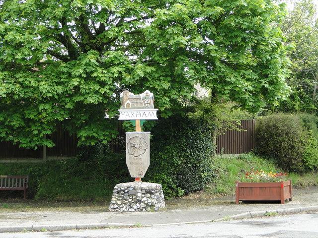 Yaxham village sign