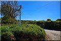 SS5529 : North Devon : Lodge Corner by Lewis Clarke