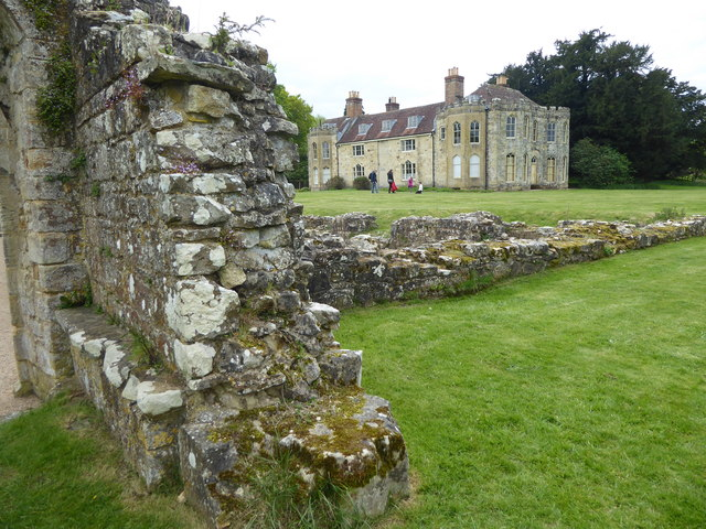 Looking towards the Dower House at Bayham Old Abbey