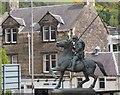 NT4935 : The Reiver's statue, Cornmill Square Galashiels by Jim Barton