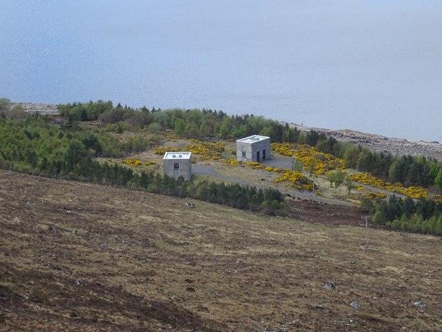 Intake control buildings, Loch Fannich