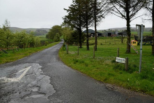 Legnabraid Road, Legnabraid by Kenneth  Allen