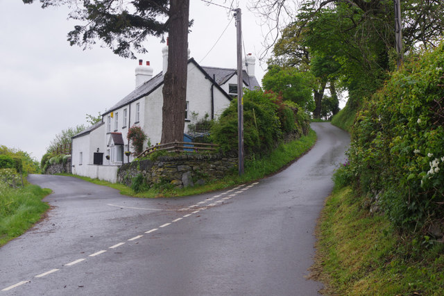 Fork in the road near Carrog