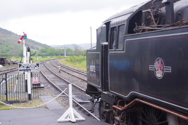 Awaiting departure from Carrog