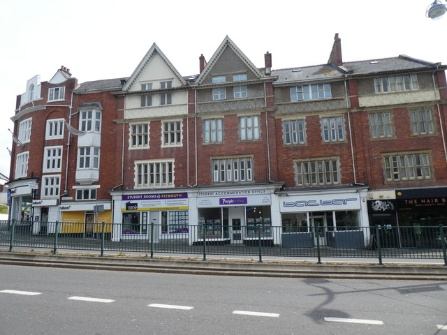 Terrace of shops, North Hill