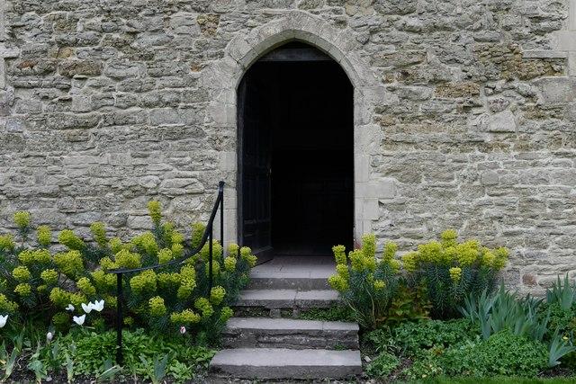 Croft Castle, St. Michael's Church: South entrance doorway