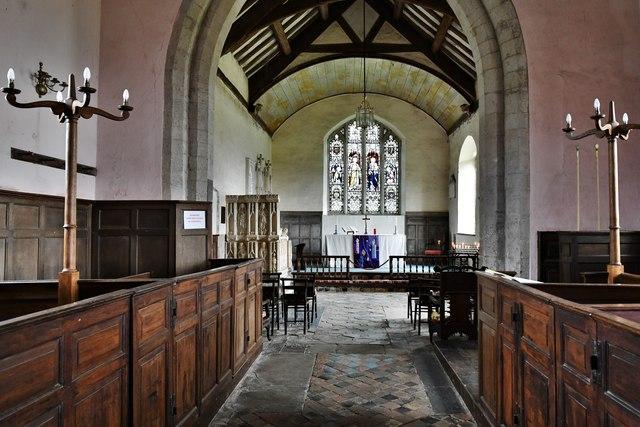 Croft Castle, St. Michael's Church: The nave