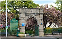 NO3801 : Entrance to Letham Glen, Leven by Bill Kasman