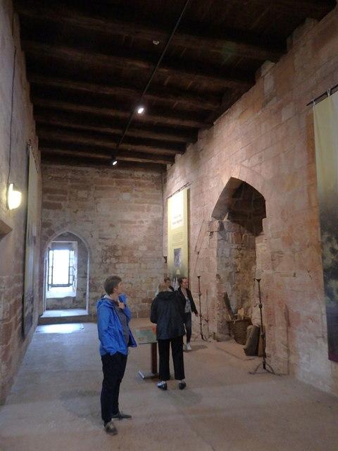 Carlisle Castle, inside the keep