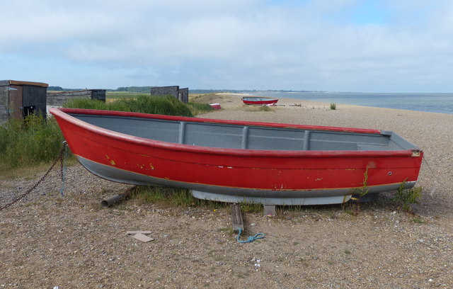 Boat on Dunwich Beach