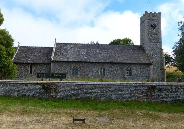 St James church at Dunwich