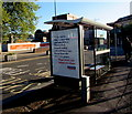 ST3088 : Nationwide Building Society advert on a Queensway bus shelter, Newport by Jaggery