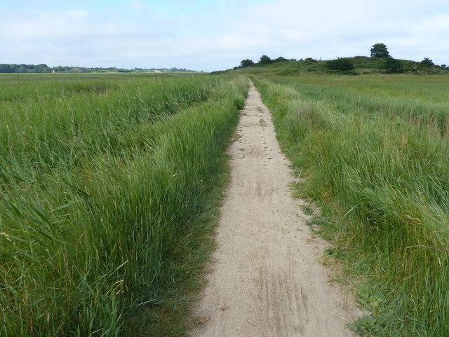Suffolk Coast Path towards Dingle Little Hill