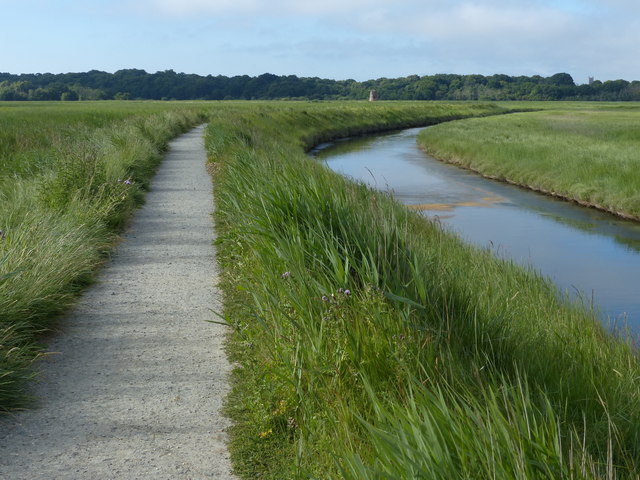 Suffolk Coast Path on the Corporation Marshes