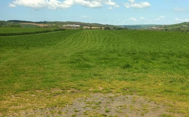 Farmland west of Chapelton