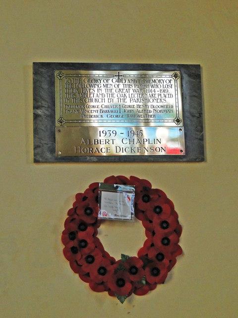 Thorpe Abbotts War Memorial