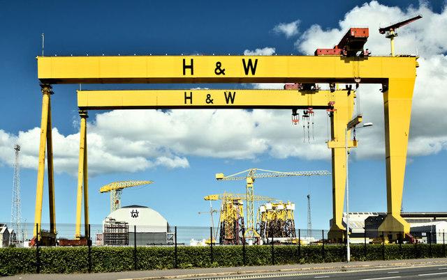 Harland & Wolff cranes, Belfast (May... © Albert Bridge cc-by-sa ...